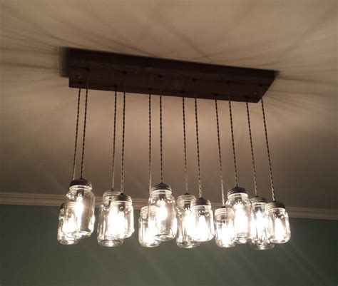 Rustic Wood Canopy Mason Jar Chandelier Diy