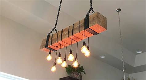 Rustic Wood Chandelier Diy