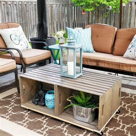 Rustic Wood Coffee Table Diy With Crates