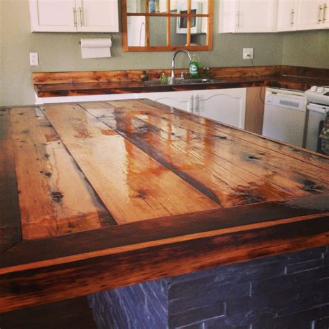 Rustic Wood Countertops Diy