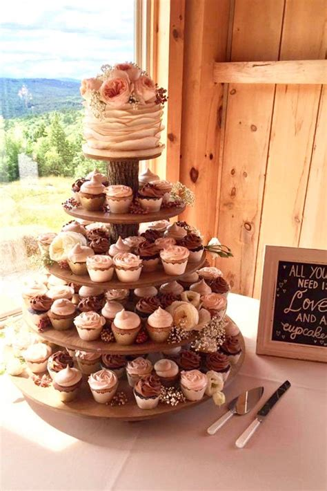 Rustic Wood Cupcake Stand Diy With Bride