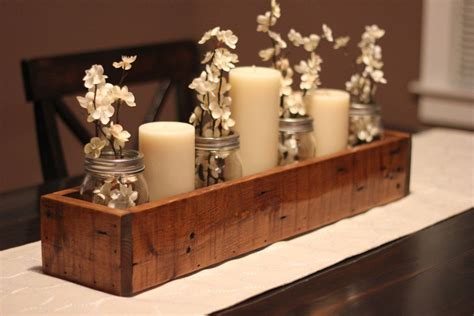 Rustic Wood Dining Table Centerpiece