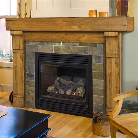 Rustic Wood Fireplace Mantels And Surrounds