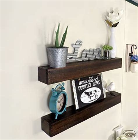 Rustic Wood Floating Shelves Diy Amazon