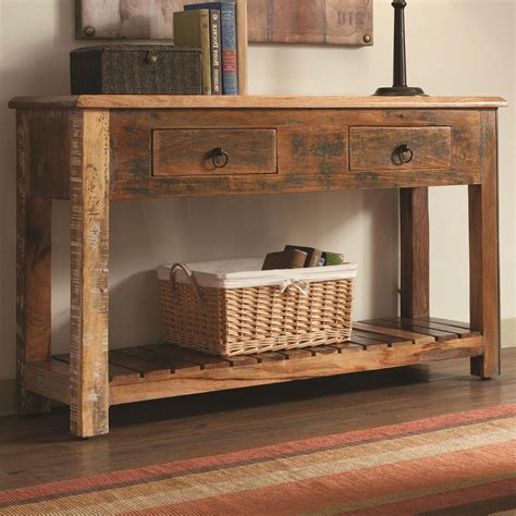 Rustic Wood Hall Tables