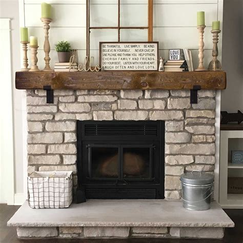 Rustic Wood Mantels With Metal