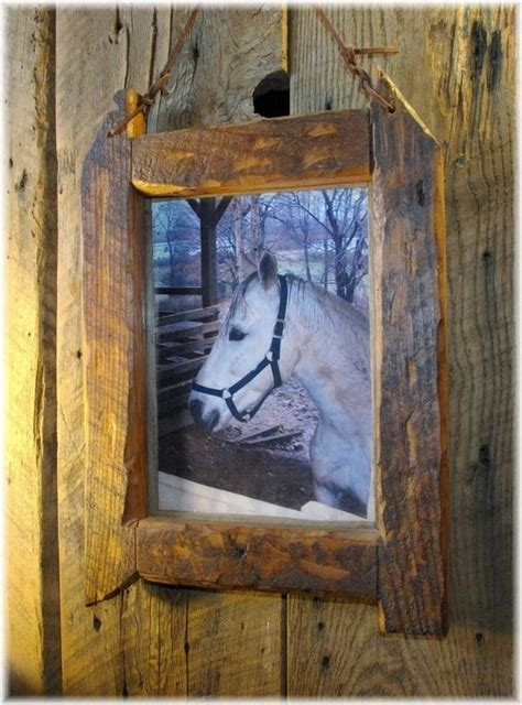 Rustic Wood Picture Frame Diy Pinterest