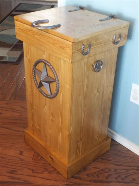 Rustic Wood Trash Can Plans