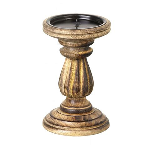 Rustic Wooden Candle Holders UK