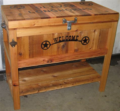 Rustic Wooden Ice Chest Plans