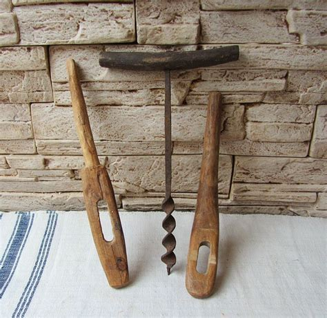 Rustic woodworking hand tools Image