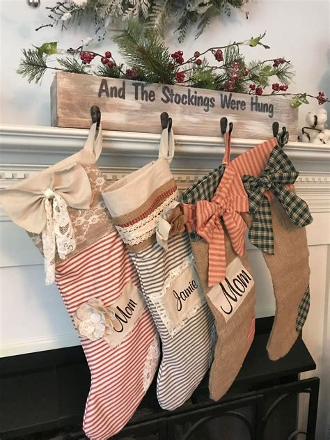 Rustic-Christmas-Stocking-Holders