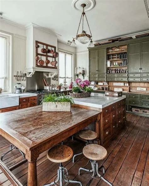 Rustic-Country-Island-Plans-For-Small-Kitchen