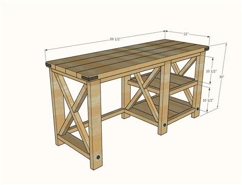 Rustic-Desk-Plans-Diy