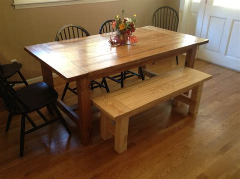 Rustic-Dining-Table-Bench-Plans