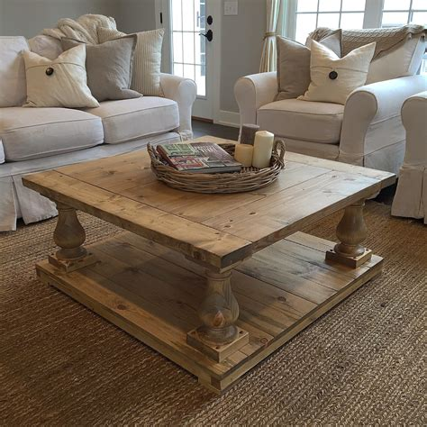 Rustic-Farmhouse-Cottage-Baluster-Coffee-Table