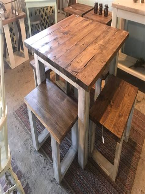 Rustic-Farmhouse-Square-Kitchen-Table-Set