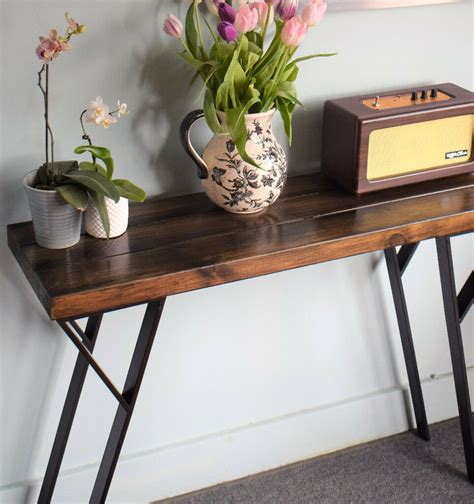Rustic-Industrial-Console-Table