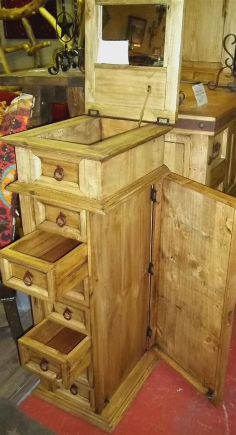Rustic-Pine-Jewelry-Armoire
