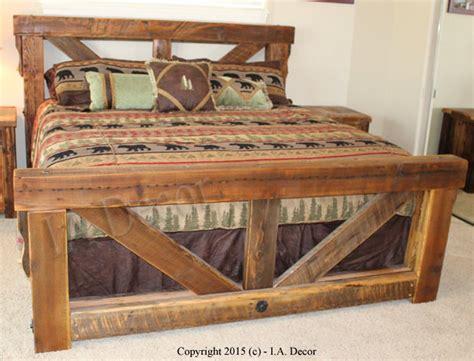 Rustic-Trestle-Bed-Frame-Plans