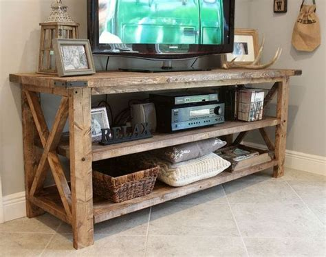 Rustic-Tv-Table-Plans