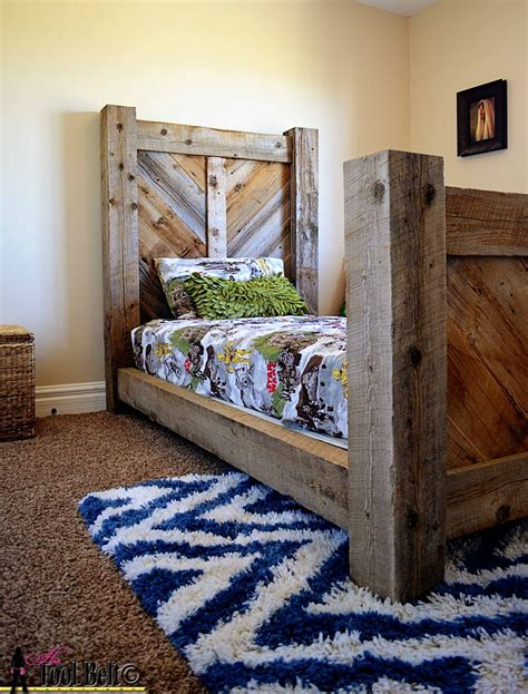 Rustic-Twin-Bed-Plans
