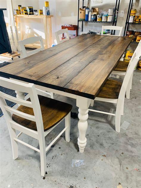 Rustic-Wood-Farm-Dining-Table