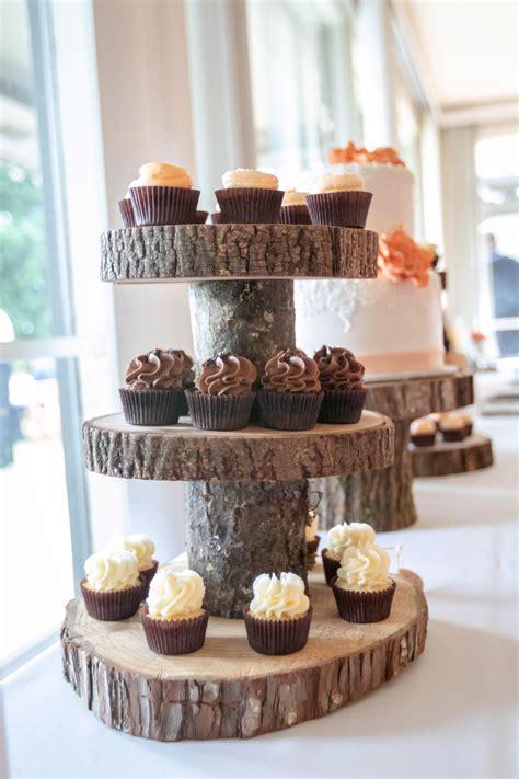 Rustic-Wooden-Cupcake-Stand-No-Bark-Diy