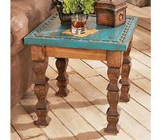 Best Rustic country end tables pine