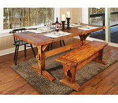 Best Rustic dining bench plans