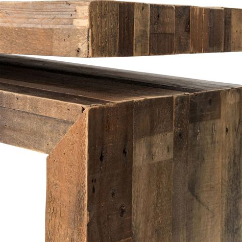 Ryland Rustic Lodge Weathered Wood Balance Console Table Plans