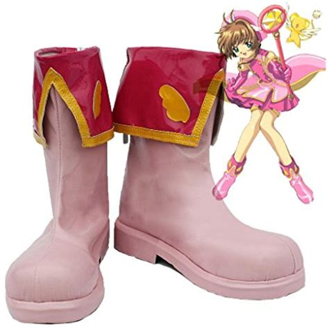 SAKURA KINOMOTO Cosplay Shoes Boots Custom Made Red 4