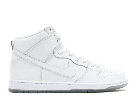 SB Dunk High Pro (White/WhiteLight Base Grey) Men's Skate Shoes9.5