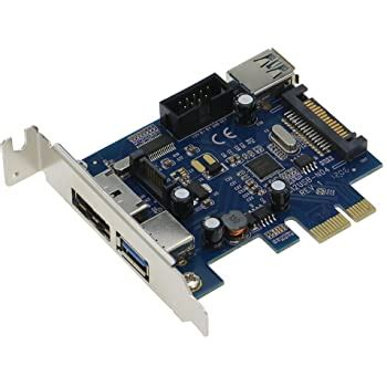 SEDNA - PCI Express 2 Port USB 3.0 + 1 Port PeSATA Adapter with Low Profile Bracket - (NEC / Renesas uPD720202 chipset) - Include 1 Meter PeSATA Cable