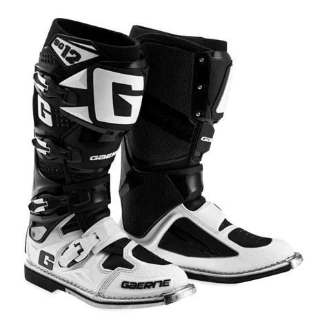 SG12 Adult Off-Road Motorcycle Boots, Black, 10