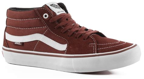 SK8 Hi Mid Pro Cappuccino/White Mens Classic Skate Shoes Size 8