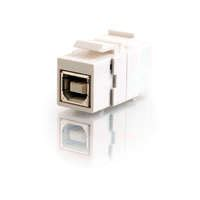 SNAP-IN USB A/A FEMALE KEYSTONE INSERT MODULE - WHITE Electronics Computer Networking