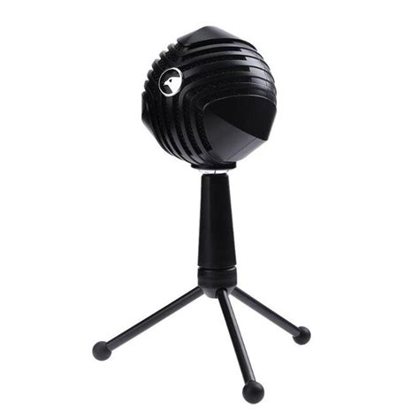 SODIAL USB Wired Condenser Microphone Table Tops Desktop Computer Mic with Stand for network games network broadcast