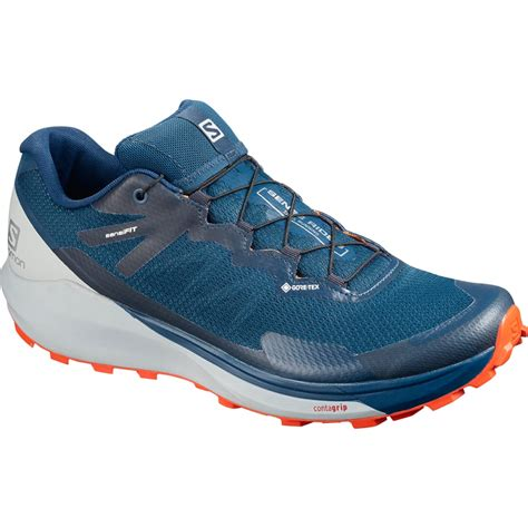 Salomon Men's Sense Ride Trail Running Shoes & Quicklace Bundle