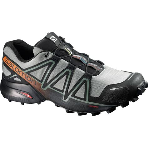 Salomon Men's Speedcross 4 CS Trail Running Shoes & Quicklace Kit Bundle