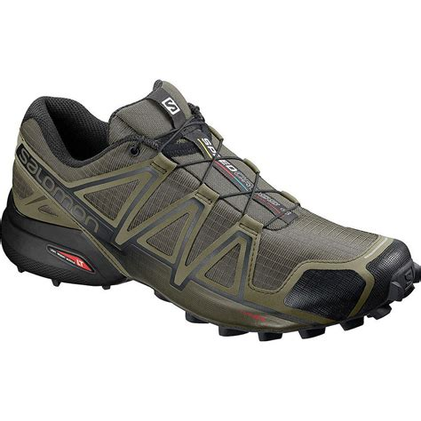 Salomon Men's Speedcross 4 Wide Running Shoes & Spare Quicklace Kit Bundle