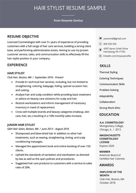 HD wallpapers hair style resume sample Page 2
