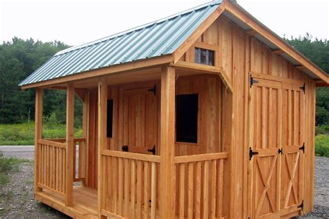 Saltbox Shed Plans With Porch