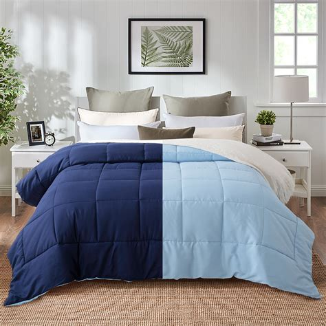 Same Day Shipping Navy Blue Comforter Queen