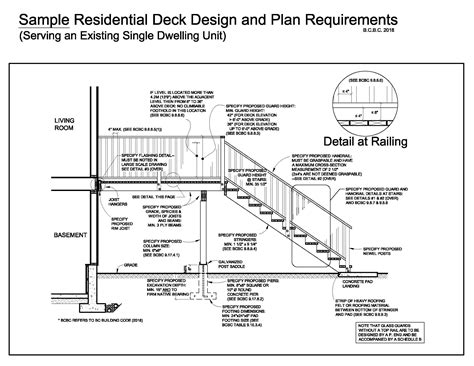 Sample Of Deck Plans For Permits For Business
