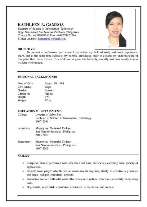 Curriculum Vitae Example Microsoft Word Cv Resume Wiki