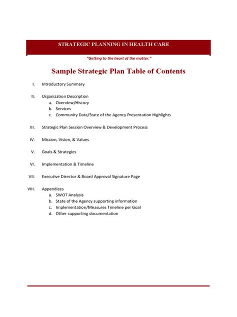 Sample-Strategic-Plan-Table-Of-Contents