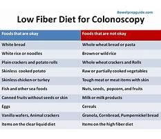 Best Samples of a low fiber diet