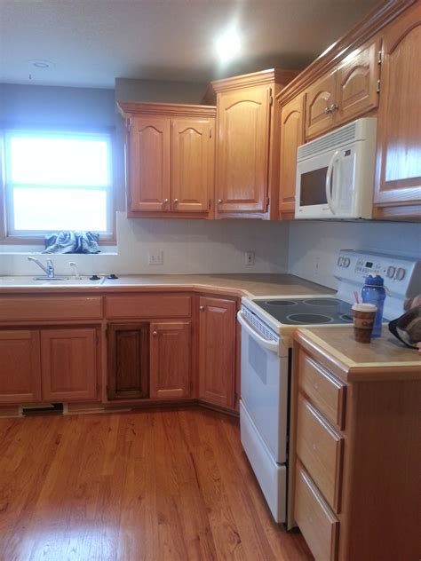 Sand And Restain Kitchen Cabinets