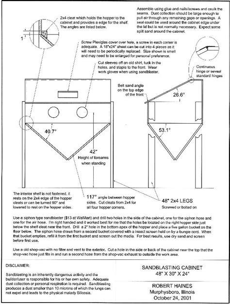 Sandblasting-Cabinet-Plans